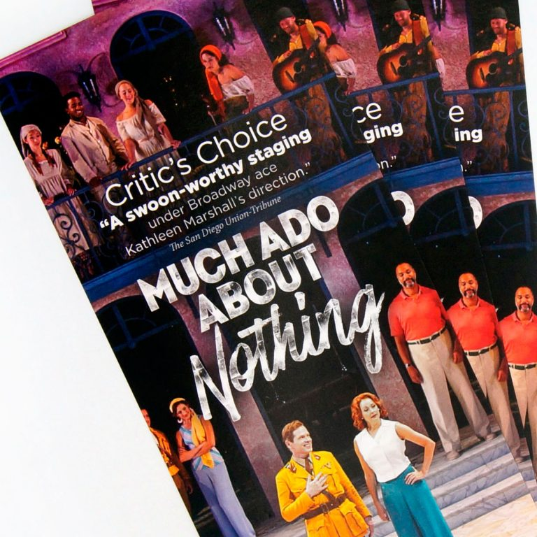 The Old Globe - Much Ado Rack Card