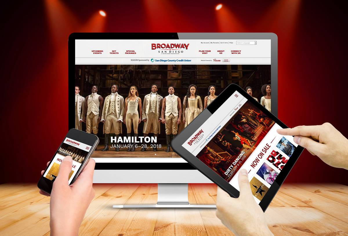 Mance Creative Launches Broadway San Diego's New Website