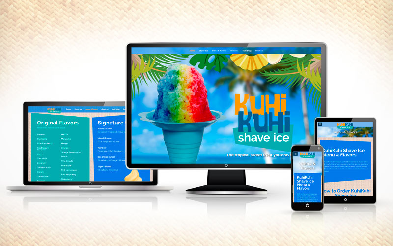 New KuhiKuhi Shave Ice website launched!